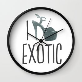 I love Pole dance Wall Clock