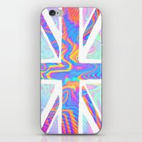 holographic iPhone & iPod Skins featuring Holographic Union Jack  by Berberism
