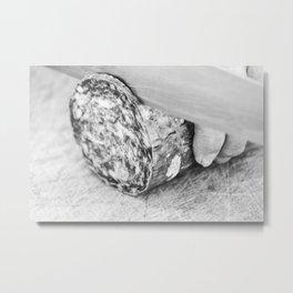 Slicing salami Metal Print