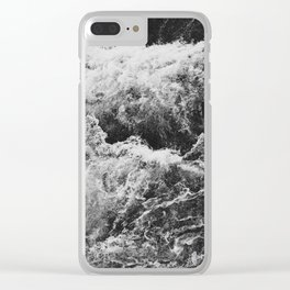 Bruarfoss in Iceland black white Clear iPhone Case