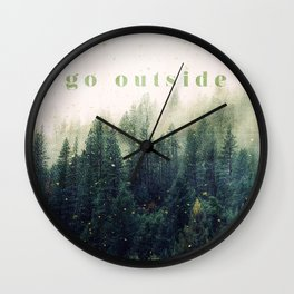 go outside Wall Clock