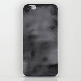 Black and white abstract clouds iPhone Skin