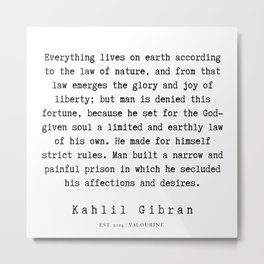 3    Kahlil Gibran Quotes   190701 Metal Print