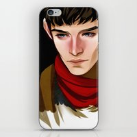 merlin iPhone & iPod Skins featuring Merlin by MJ Erickson