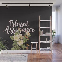 Blessed Assurance - Black Wall Mural