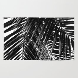Tropical Vibes   Black and White Rug