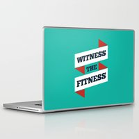 fitness Laptop & iPad Skins featuring Lab No. 4 - Witness The Fitness Gym Motivational Quotes Poster by Lab No. 4