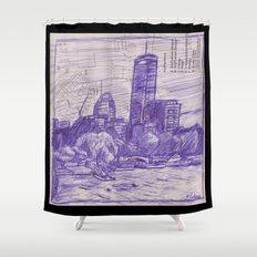Charles River Esplanade 1 Shower Curtain