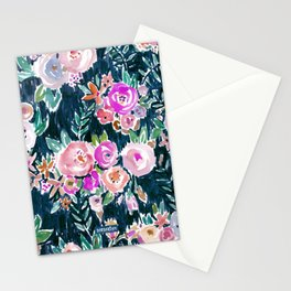 Midnight PROFUSION FLORAL Stationery Cards