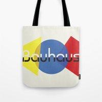 bauhaus Tote Bags featuring Bauhaus by Dennis Wilson