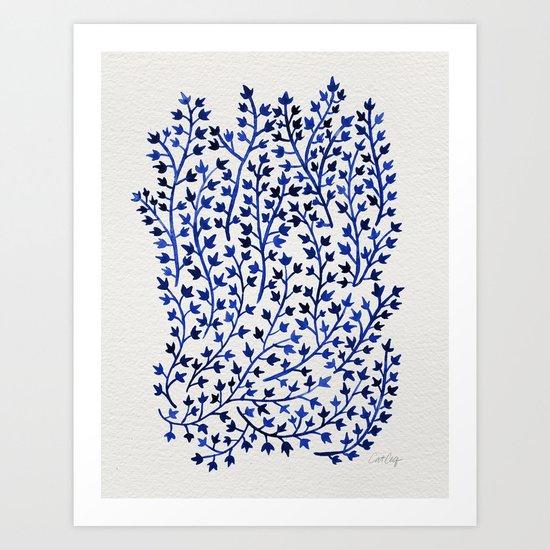 Porcelain Ivy Art Print