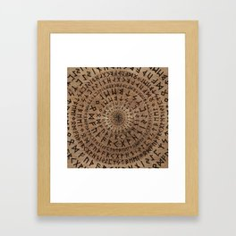 Elder Futhark Circular Composition Framed Art Print