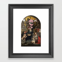 vergine maria Framed Art Print