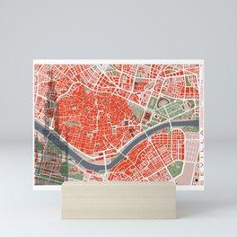 Seville city map classic Mini Art Print