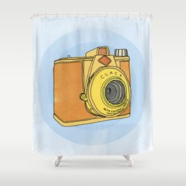 So Analog - Agfa Clack Retro Vintage Camera Shower Curtain