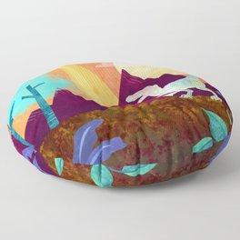 Hey Raptor Floor Pillow