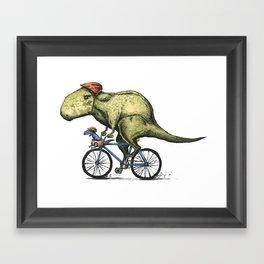 Dino Cycler Framed Art Print