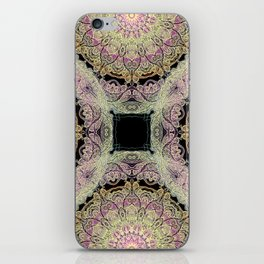 mandala pattern on the dark background iPhone Skin