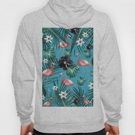 Tropical Flamingo Flower Jungle #2 #tropical #decor #art #society6 Hoody