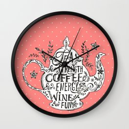 Tea, Coffee, Wine - 2 Wall Clock