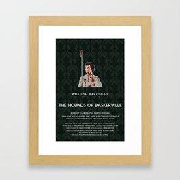 The Hounds of Baskerville - Sherlock Holmes Framed Art Print