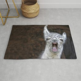 Young Lama with a big mouth | Junges Lama mit grosser Klappe Rug