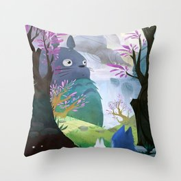 ghibli art Throw Pillow