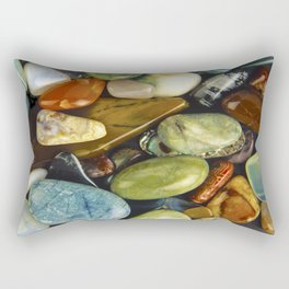 Jewel of the Little Gems - well actually polished stones...... Rectangular Pillow