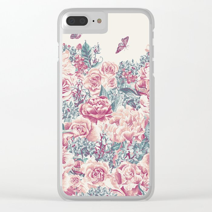 Vintage Garden 21 (Misty Mornings) Clear iPhone Case
