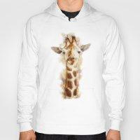 giraffe Hoodies featuring giraffe by beart24