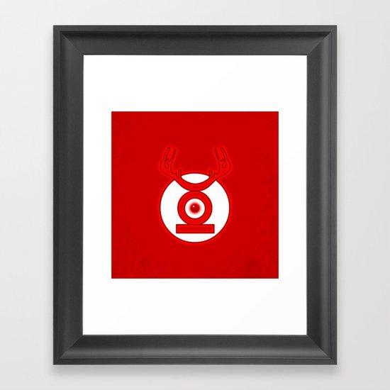 RedLantern Framed Art Print