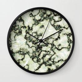 Olive Green Metallic Marble Texture Wall Clock