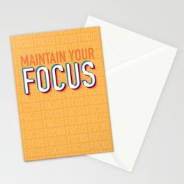 Maintain Your Focus Stationery Cards