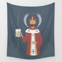 arnold Wall Tapestries featuring St. Arnold of Brewers by Sarah Duet
