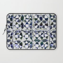 abstract tile in shade of blues Laptop Sleeve