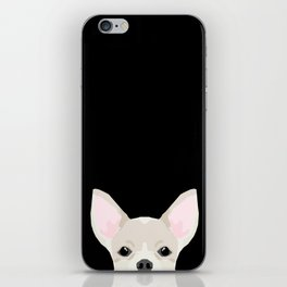 Chihuahua peeking dog breed cute chihuahuas gifts for dog moms pure breed iPhone Skin