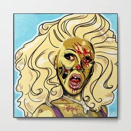 Zombie RuPaul Metal Print