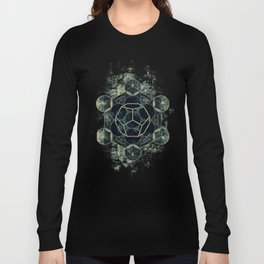 Sacred Geometry for your daily life -  Platonic Solids - ETHER Long Sleeve T-shirt