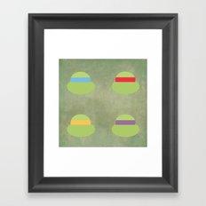 TMNT Minimalist Poster Framed Art Print