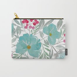 Blue Beach Flowers Carry-All Pouch
