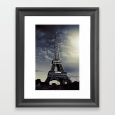 Dark Eiffel Framed Art Print