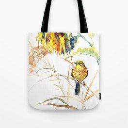 Yellow Bird and Sunflowers, Yellowhammer Tote Bag