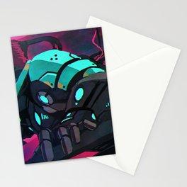 Fantastic Futuristic Cyber Punk Cyborg Girl Neon Lightsaber Ultra HD  Stationery Cards