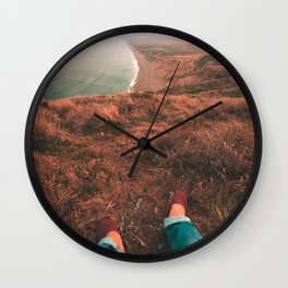 Chilling At Point Reyes Wall Clock
