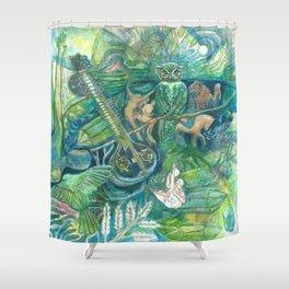 Emerald Wisdom Shower Curtain
