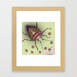 The Stink Bugs Are Coming! Framed Art Print