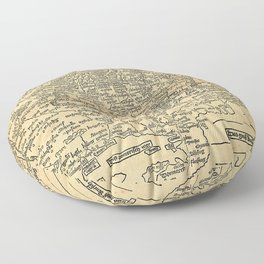 OLDE WORLD CENTRAL EUROPE MAP Courtesy of National Gallery of Art, Washington Floor Pillow