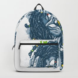 Lion with Dreadlocks Backpack