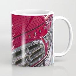 1955 Vintage Chrysler 300 Car Art Painting - Cherry Red Coffee Mug