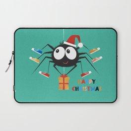 Happy Christmas Santa Spider Laptop Sleeve